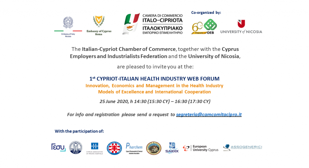 1st Cypriot-Italian Health Industry Web Forum
